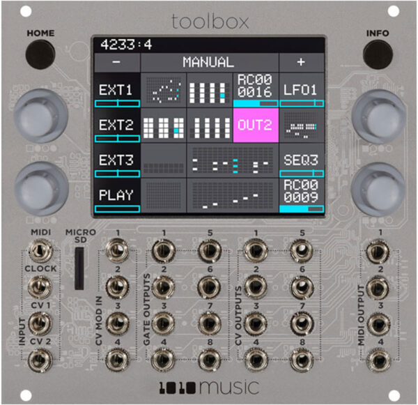Toolbox - Sequencer and Function Generator Module for Eurorack